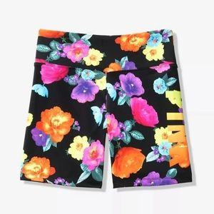 Black Floral Ultimate Bike Short VS Pink